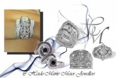 Designer rings by Heide-Marie Meier