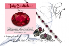 Ruby and silver jewelllery