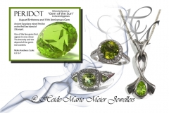 peridot and silver jewellery
