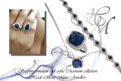 synthetic sapphire jewellery