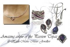 Passion topaz jewellery