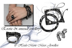 exotic & unusual black and silver jewellery