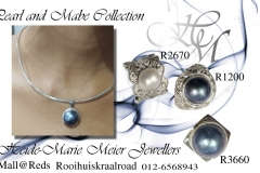 mabe and white mabe rings and pendants in silver