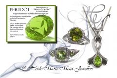 peridot and silver jewellery