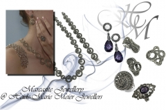 silver and marcasite collection