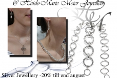 silver jewellery bracelets, earrings and chains
