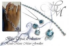 beautiful blue topaz jewellery