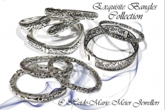 exquisite silver bangles